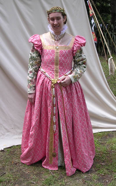Pink dress - no farthingale