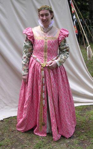 Pink dress - no farhingale