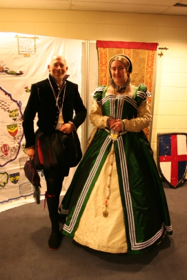 Green french gown at coronation AS XXII