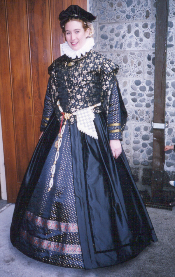 Brocade doublet with kirtle