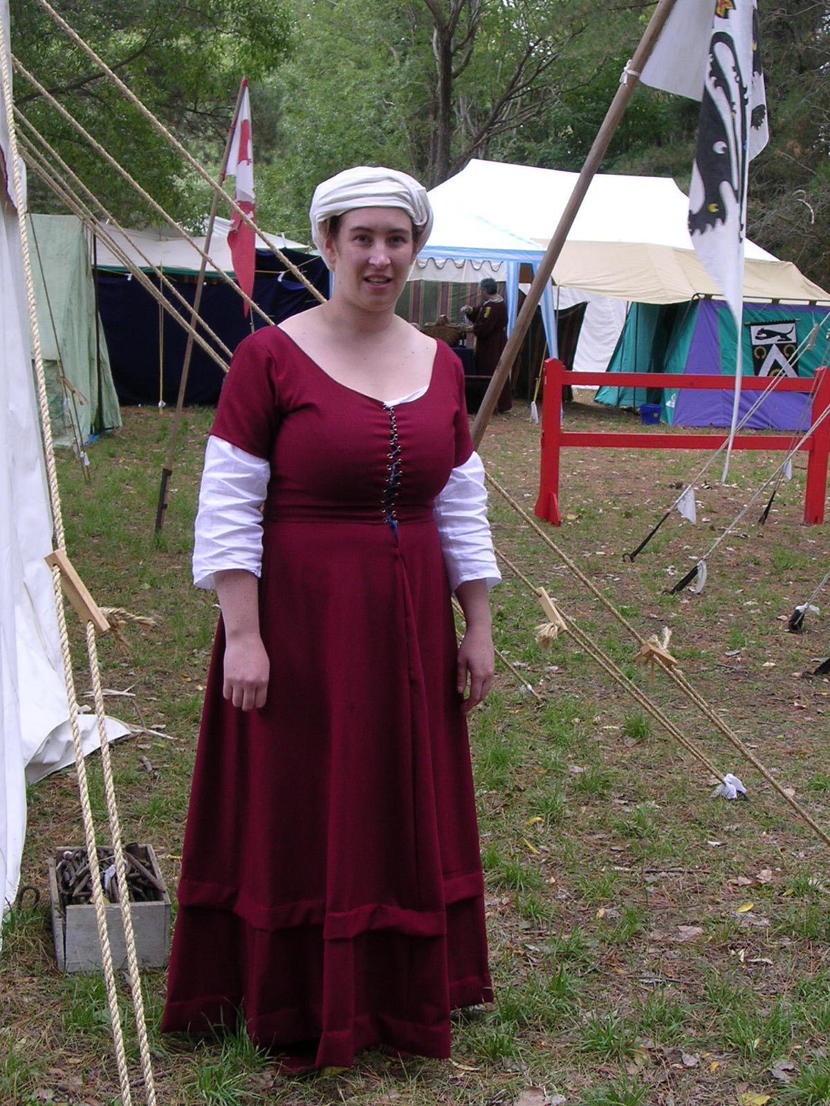 Red wool burgundian kirtle.