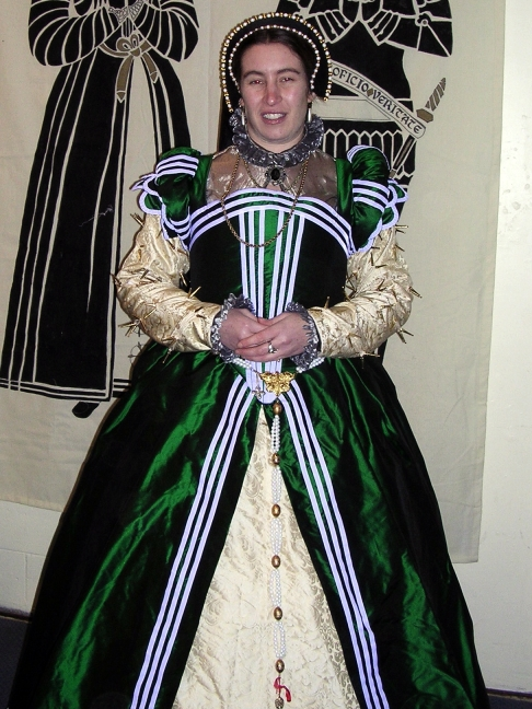 Green french gown - coronation feast