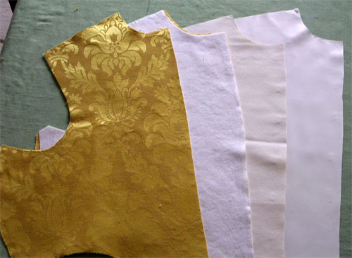 The layers of cloth for the bodice