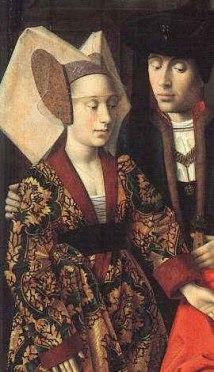 St Eligius as a goldsmith, Petrus Christus, 1449