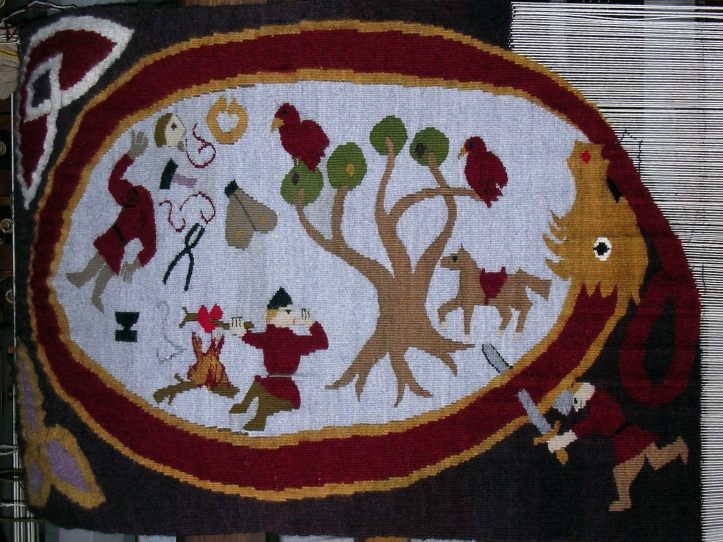 'Sigurd' tapestry almost complete