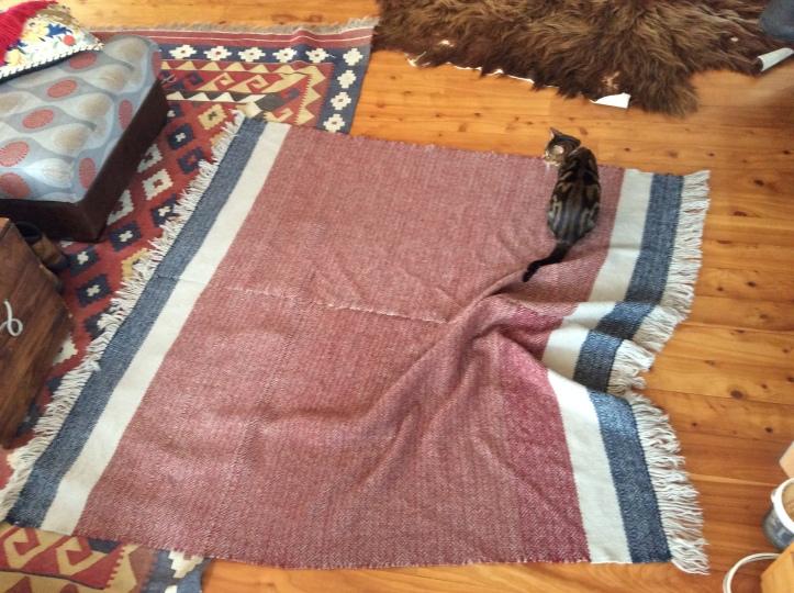 Carpet wool picnic blanket