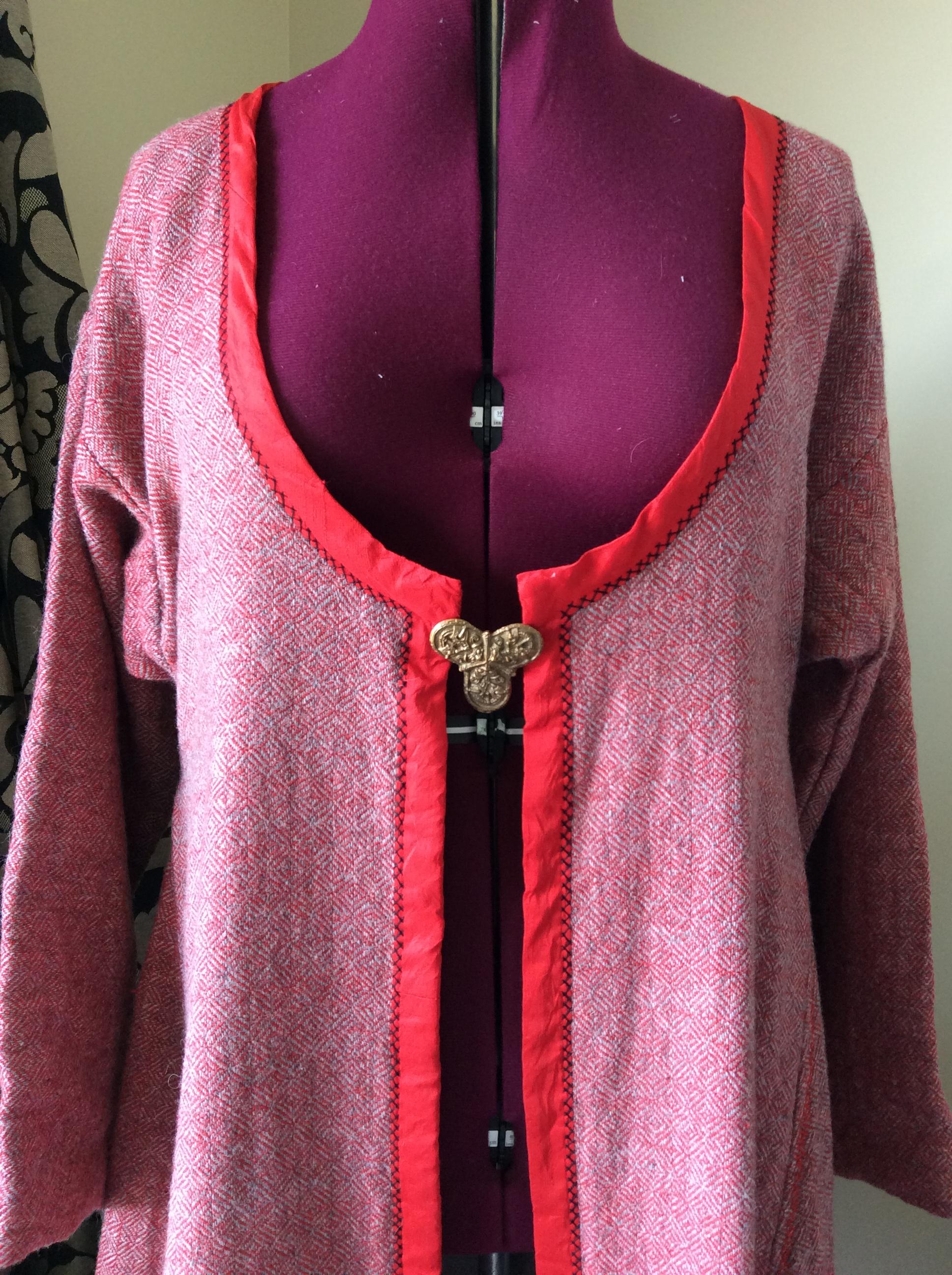 Diamond twill cloth Viking coat