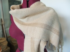 Alpaca and wool scarf