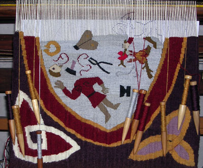 Sigurd tapestry in progress