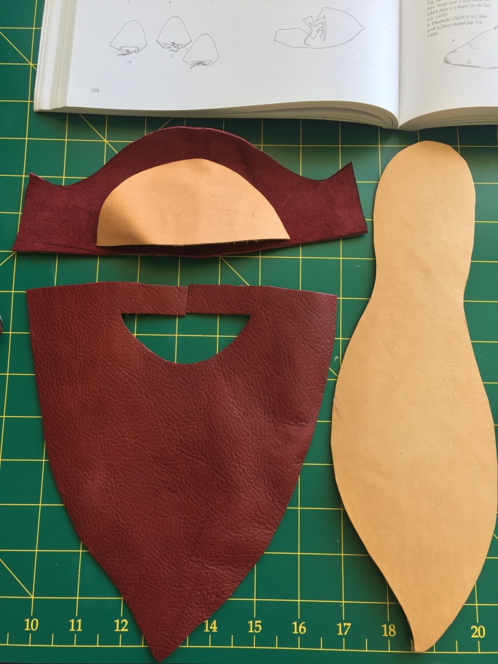 Shoe pieces cut out