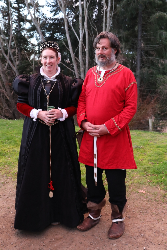 Sigurd and me at Lochac winter coronation, July 2019