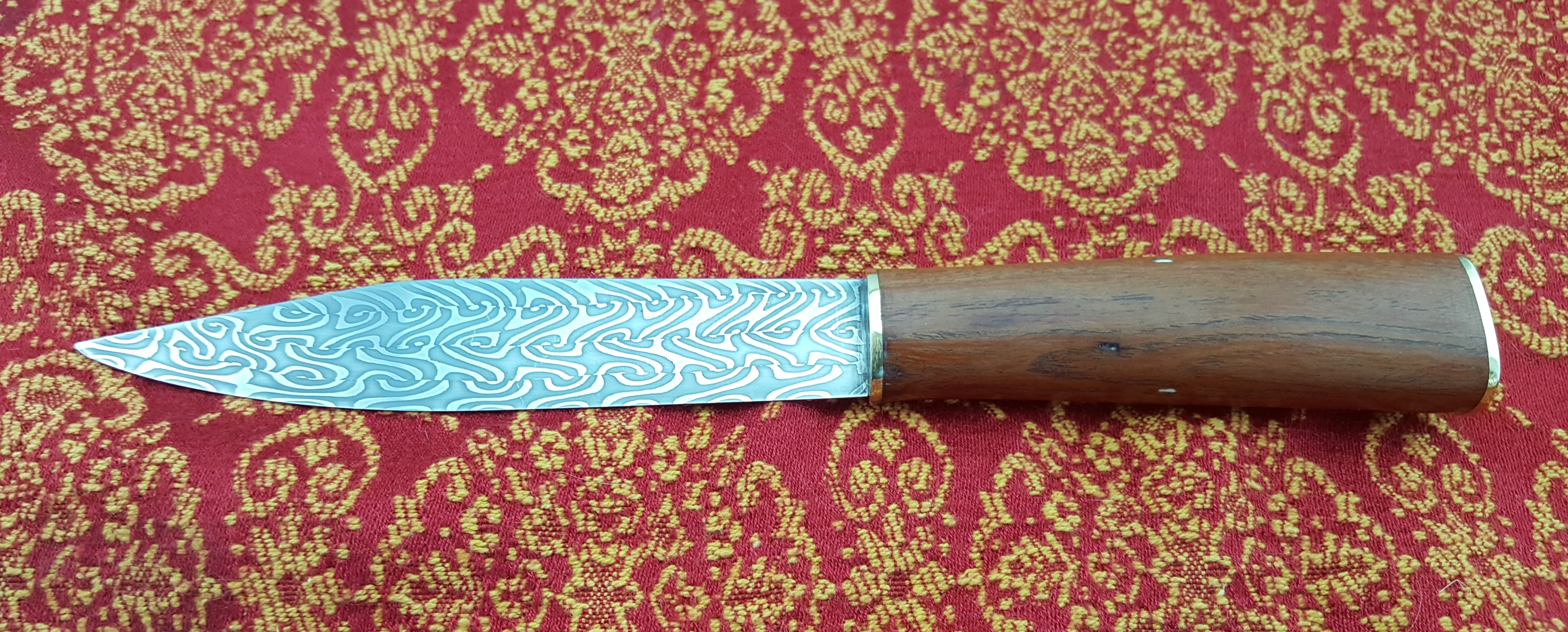 Wood handled seax.