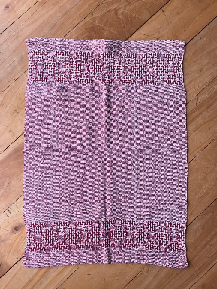 Huck tea towel