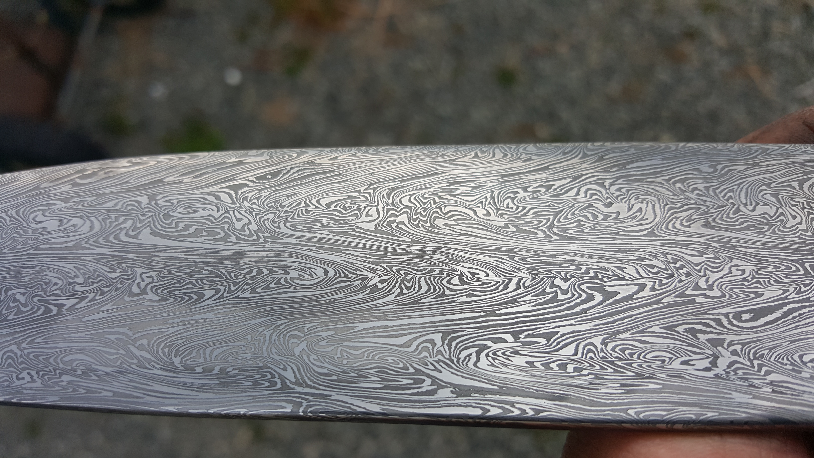 BBQ knife, blade detail