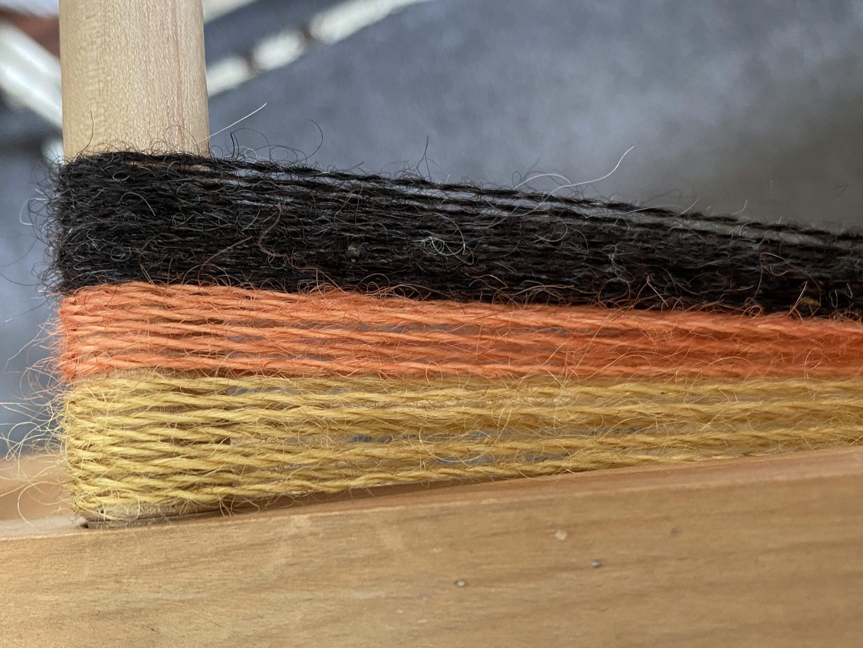 Yellow, Orange and Black yarn