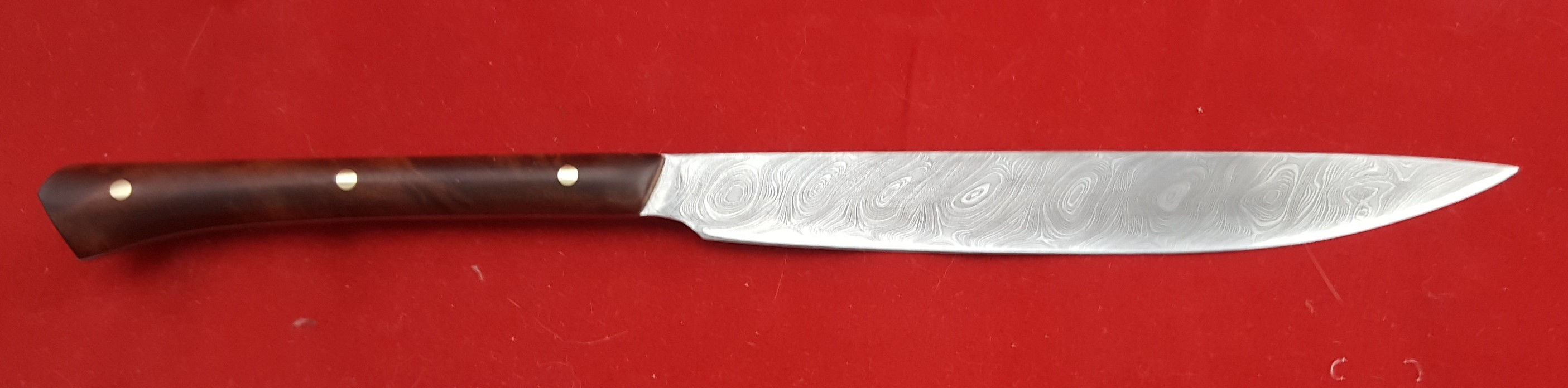14 C eating / utility 240 mm OL stabilized burl handle Available
