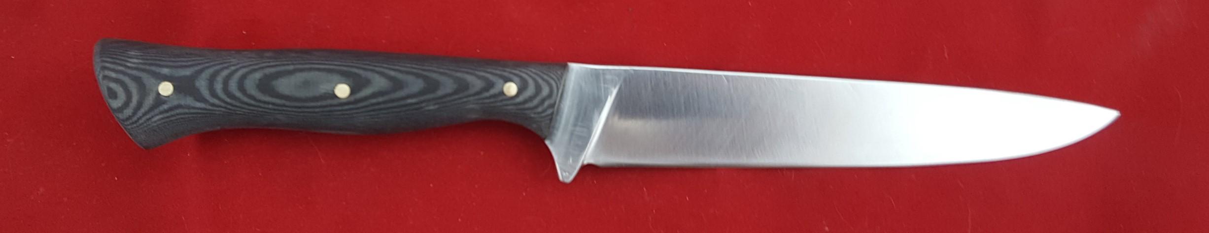 Hardcore hunter 260 mm OL 1084 blade Canvas Micarta Handle. Made to order